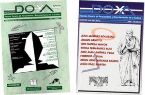 Portadas del número 1 y 2 de la Revista DOXA npublicados en los años ´90 del siglo XX