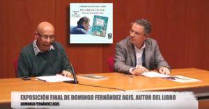 Adolfo García García presentando a Domingo Fernández Agis, en la Biblioteca Pública de Las Palmas