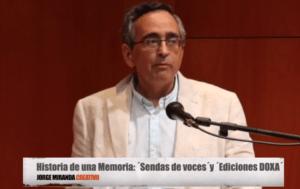Un momento de la intervención de Jorge Miranda CREATIVO en la presentación del libro